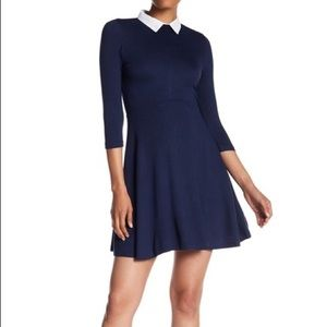 NWT French Connection Fit & Flare Collared Dress